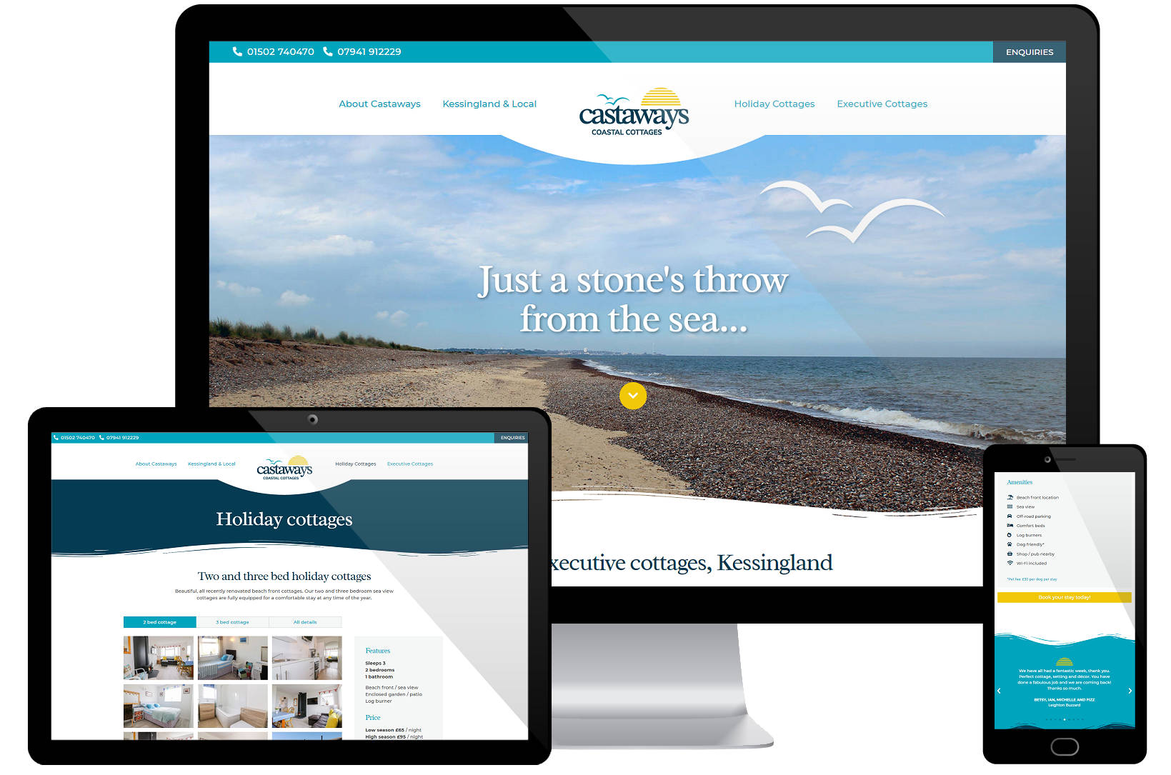 Web Design Portfolio - Castaways Screenshots