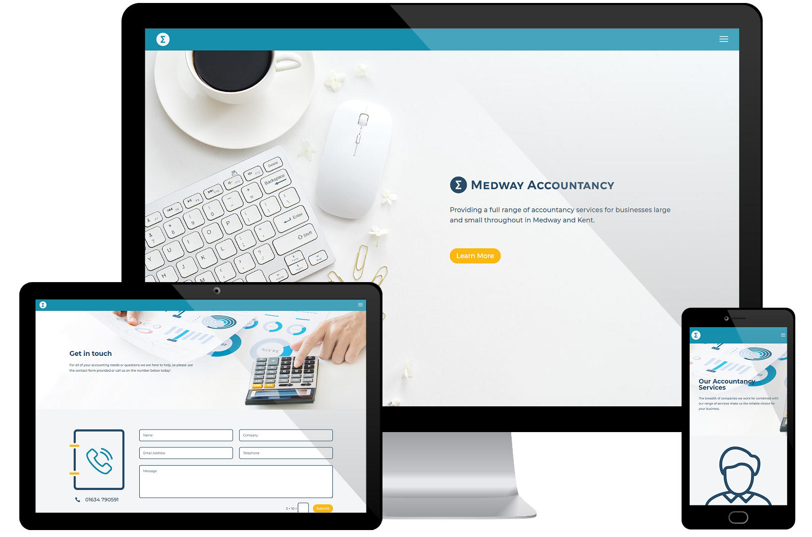 Web Design Portfolio - Medway Accounting Screenshots