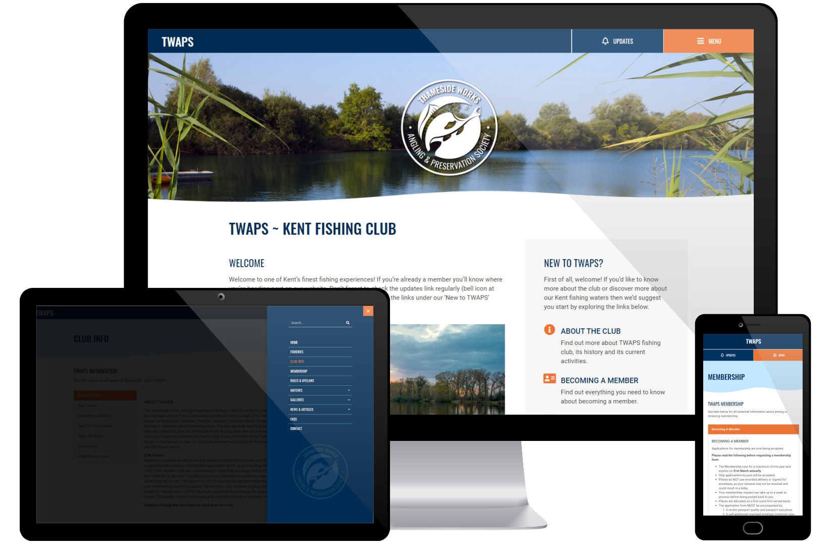 Web Design Portfolio - TWAPS Screenshots